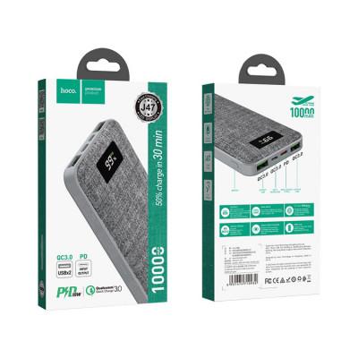 Внешний аккумулятор J47 QC3.0 10000mAh серый HOCO