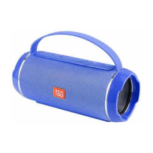 Портативная колонка TG-116C с ручкой синий T&G