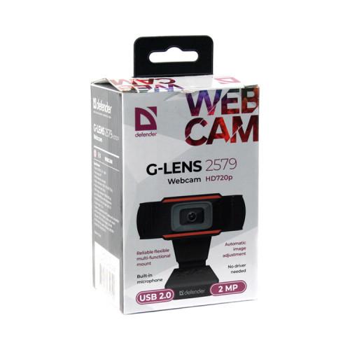 Веб-камера G-lens 2579 HD720p 2МП DEFENDER