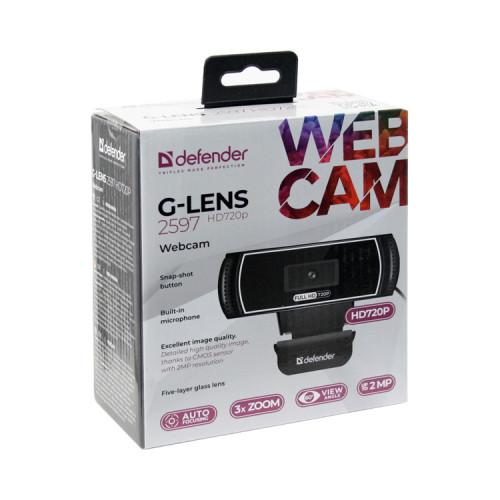 Веб-камера G-lens 2597 HD 2МП DEFENDER