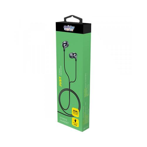 Наушники с микрофоном SBE-701 JUST черный SMARTBUY