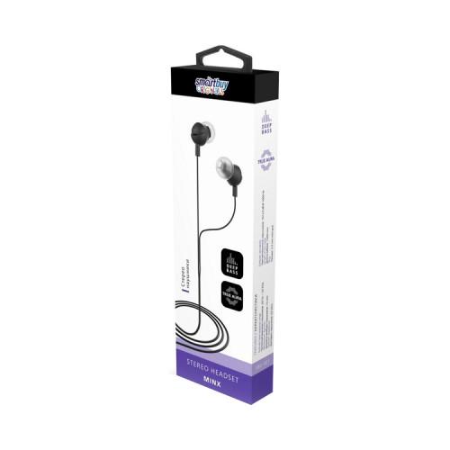 Наушники с микрофоном SBE-401 MINX черный SMARTBUY
