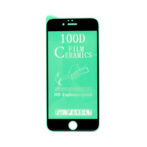 Гибкое стекло для Apple iPhone 6/6S черный Ceramics Anti-Shock
