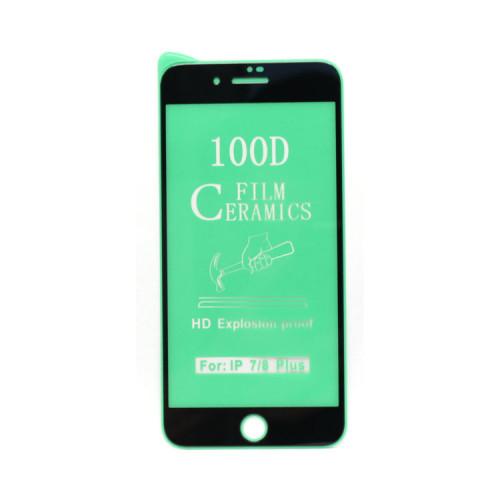 Гибкое стекло для Apple iPhone 7+/8+ черный Ceramics Anti-Shock