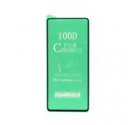 Гибкое стекло для Samsung Galaxy A71/A81/A91 черный Ceramics Anti-Shock