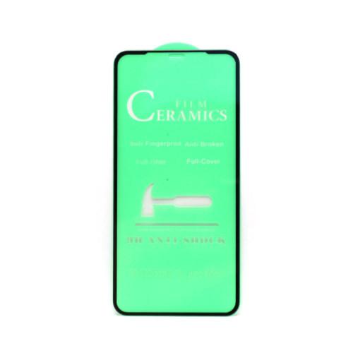 Гибкое стекло для Apple iPhone 11 Pro Max черный Ceramics Anti-Shock