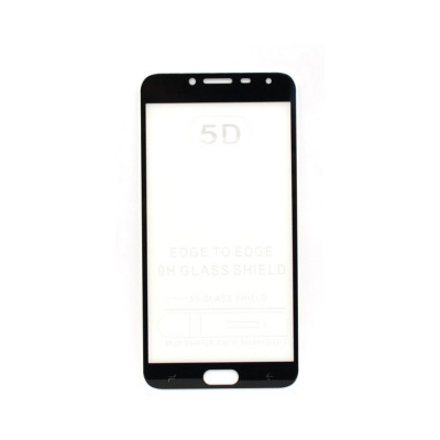 Защитное стекло 3D для Samsung Galaxy J4 2018 черный (техпак)