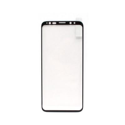 Защитное стекло для Samsung Galaxy S8/S9 черный (техпак)