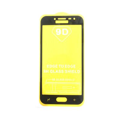 Защитное стекло 3D для Samsung Galaxy J2 2018 черный (техпак)