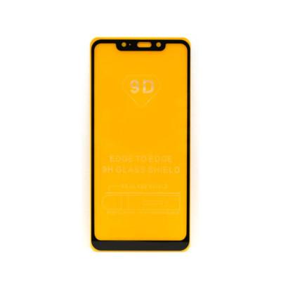 Защитное стекло 3D для Xiaomi Redmi Note 6 Pro черный (техпак)