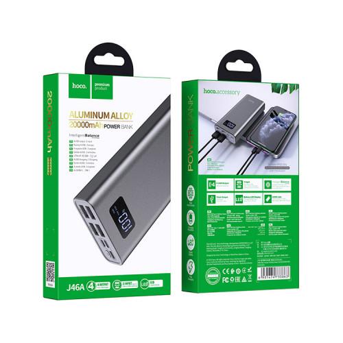 Внешний аккумулятор J46A 20000mAh серый HOCO