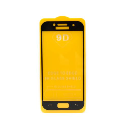 Защитное стекло 3D для Samsung Galaxy A3 2017 черный (техпак)