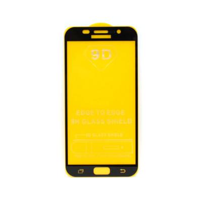 Защитное стекло 3D для Samsung Galaxy A7 2017 черный (техпак)