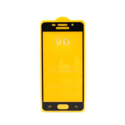 Защитное стекло 3D для Samsung Galaxy A3 2016 черный (техпак)