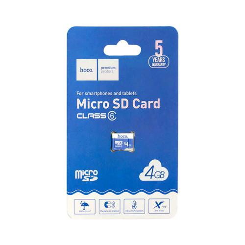 MicroSDHC 4GB Class 6 без адаптера HOCO