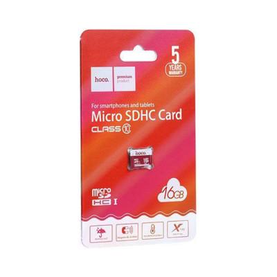 MicroSDHC 16GB Class 10 без адаптера HOCO