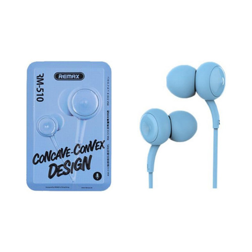 Наушники с микрофоном RM-510 голубой REMAX