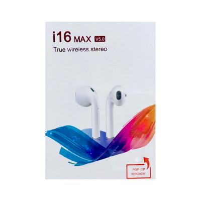 Беспроводные наушники сенс. i16 Max 5.0 белый TWS