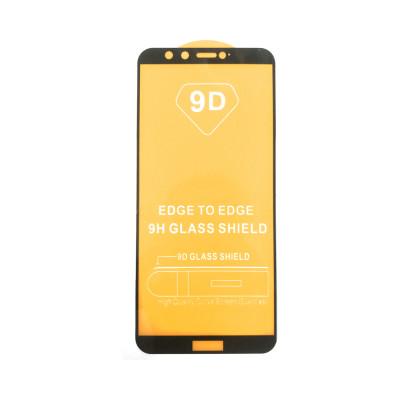 Защитное стекло 3D для Huawei Honor 9 Lite черный (техпак)