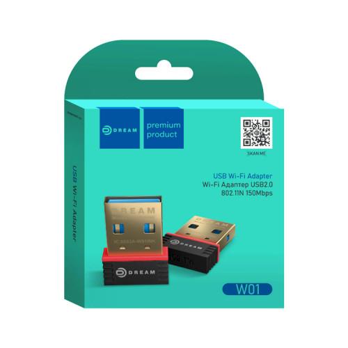 Wi-Fi адаптер W01 150MB/S черный DREAM
