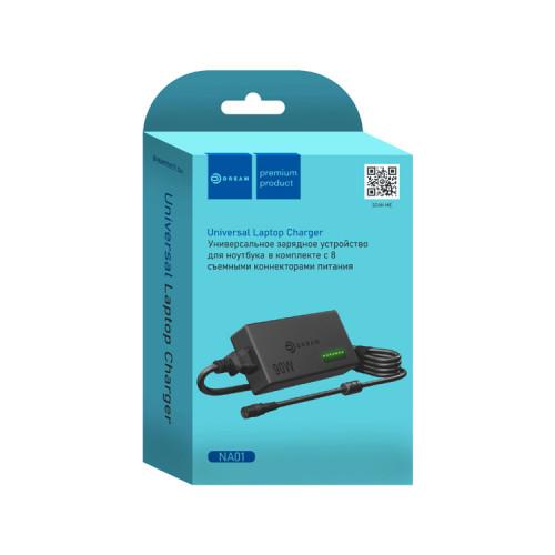 СЗУ для ноутбука NA01 (96W, 12-24V, 5A max, 8 plugs) универсальное DREAM