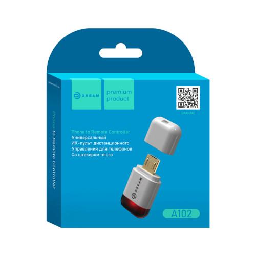 ИК-пульт универсальный A102 (Micro USB) белый DREAM