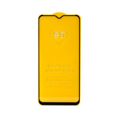 Защитное стекло 3D для Samsung Galaxy A20s черный (техпак)