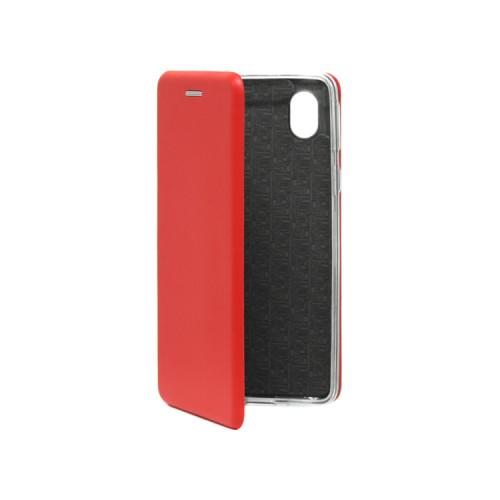 Чехол-книжка для Samsung Galaxy A01 Core красный