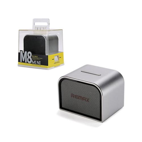 Портативная колонка RB-M8 Mini серебристый REMAX