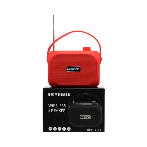 Портативная колонка L15 красный BOOMS BASS