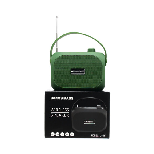 Портативная колонка L15 зеленый BOOMS BASS
