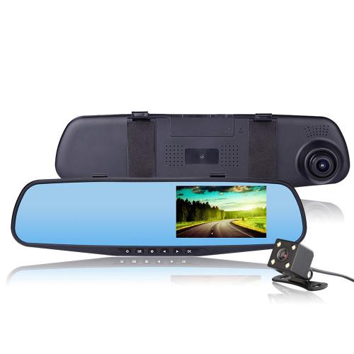 Видеорегистратор-зеркало DVR180 экран в зеркале + камера заднего вида