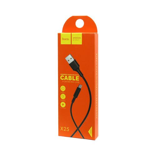 (К) Кабель Micro USB X25 черный HOCO