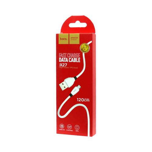 (К) Кабель Micro USB X27 красный HOCO
