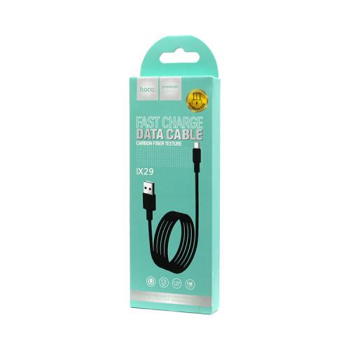 (К) Кабель Micro USB X29 черный HOCO