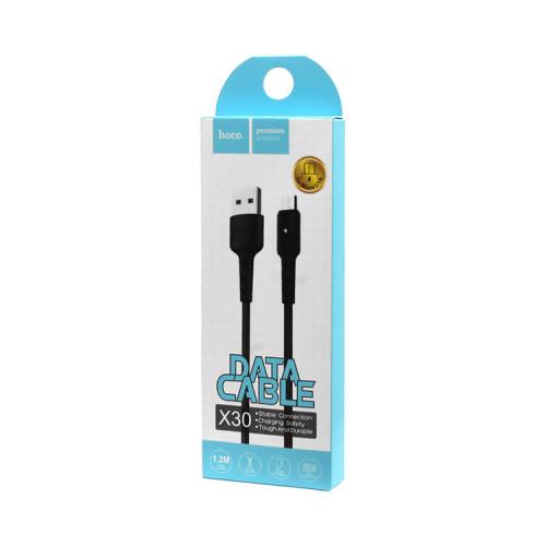 (К) Кабель Micro USB X30 черный HOCO