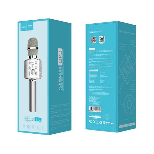 Караоке-микрофон BK3 серебристый HOCO