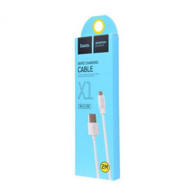 Кабель Micro USB X1 2M белый HOCO