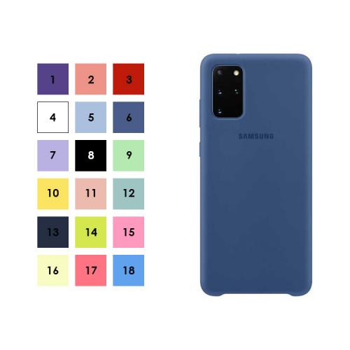 Накладка для Samsung Galaxy S20+ с лого (в ассортименте) S-CASE