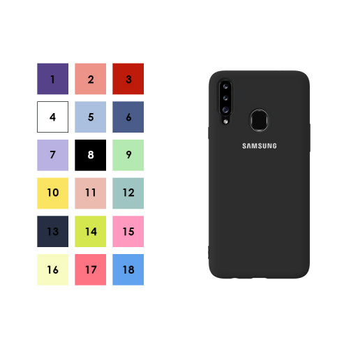 Накладка для Samsung Galaxy A20S с лого (в ассортименте) S-CASE