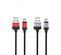 Кабель Micro USB BX28 2.4A черно-серый BOROFONE