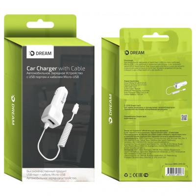 АЗУ USB CH11 Micro USB 1A 1.2М белый DREAM