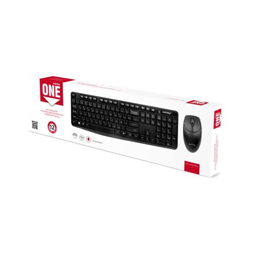 Клавиатура и мышь беспроводная ONE SBC-235380AG-K черный SMARTBUY