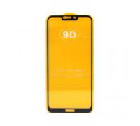 Защитное стекло 3D для Huawei Honor 8C черный (техпак)