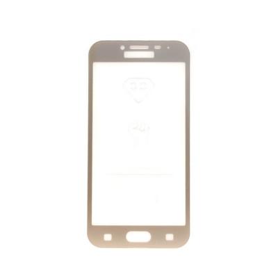Защитное стекло 3D для Samsung Galaxy J2 2018 золотой (техпак)