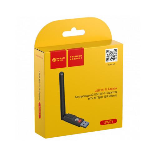 Wi-Fi адаптер UW07 (RTL7601 150Mbit/s) черный DREAM