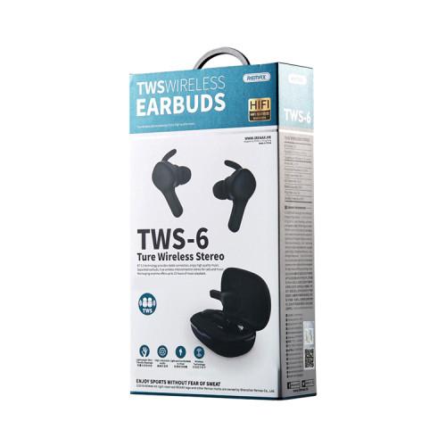 Беспроводные наушники TWS-6 черный REMAX