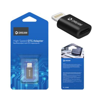 Адаптер OTG DRM-OTG6-01 Lightning - Micro USB черный DREAM
