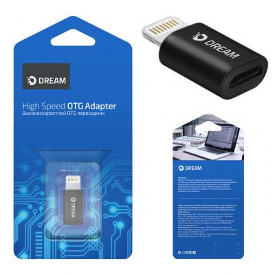Адаптер OTG DRM-OTG6 Lightning - Micro USB черный DREAM v2