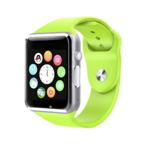 Смарт-часы A1 серебро (зеленый ремешок)
